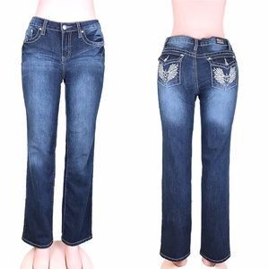 Earl jeans stretch embellished boot cut size 4